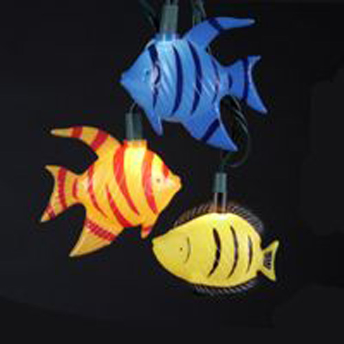 Whimsical Tropical Fish Electric String Lights Under The